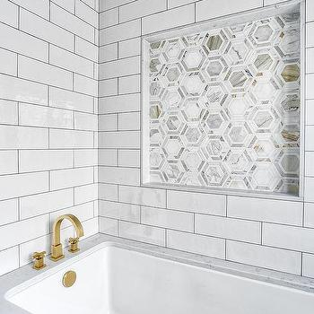 marble tile with gold grout design ideas