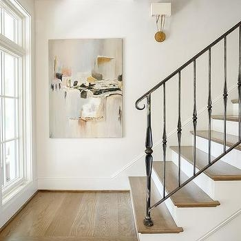 White Staircase Spindles Design Ideas | Wrought Iron Staircase Spindles | Basement Stair | Rot Iron | Outdoor | Wooden French Country Newel Post | Foyer