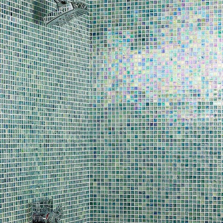 breeze glass mosaic tile in blue and green
