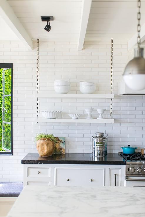 white brick tile backsplash design ideas