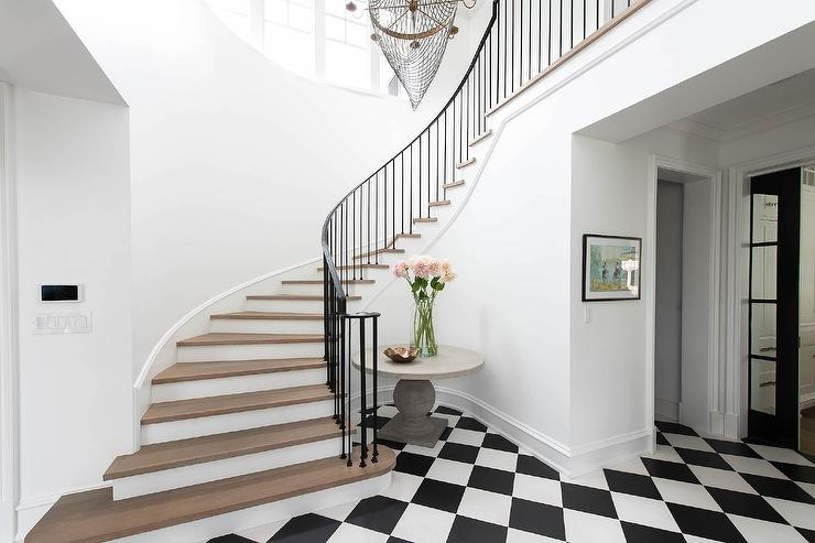 Wrought Iron Staircase Spindles Design Ideas | Modern Black Metal Stair Railing | Balcony | Really Thin | Outdoor | Metal Mesh | Dark Wood