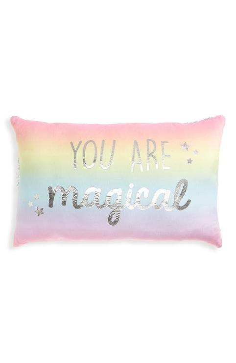magical reversible flip sequin pillow