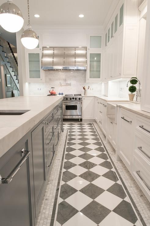black and white checkered floor design