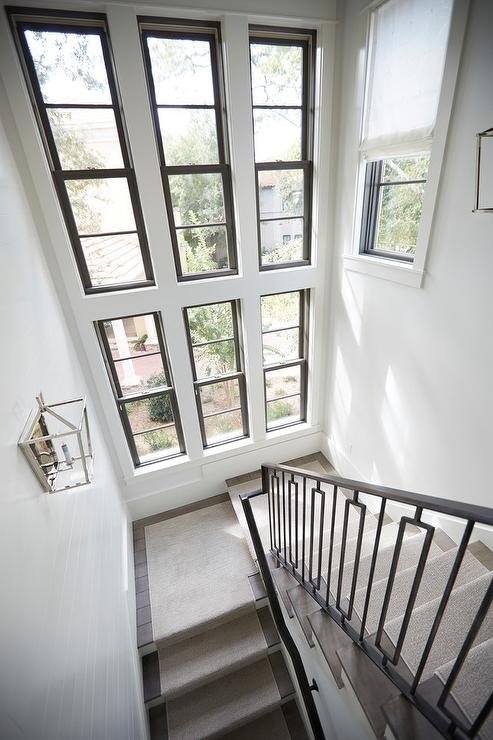 Stacked Staircase Windows Design Ideas   Modern Staircase Window Design   Corner   Indian   Stair Case   Fixed Frame   Beautiful