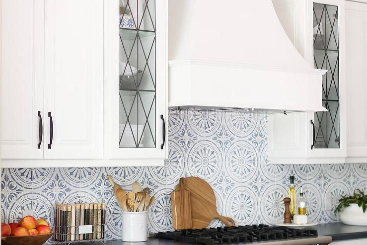 white medallion tiles