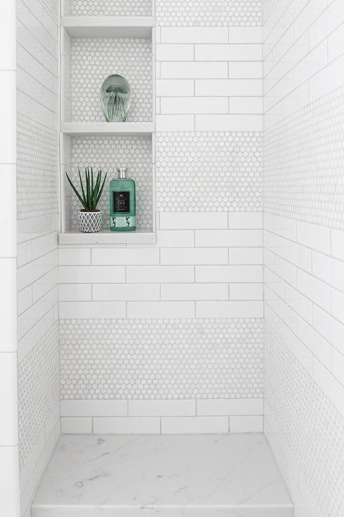 mixed shower tiles design ideas