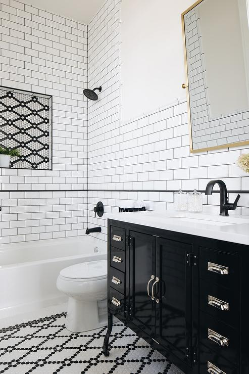 black pencil tiles design ideas
