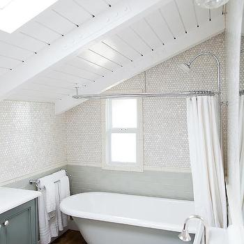 hidden shower curtain rod design ideas