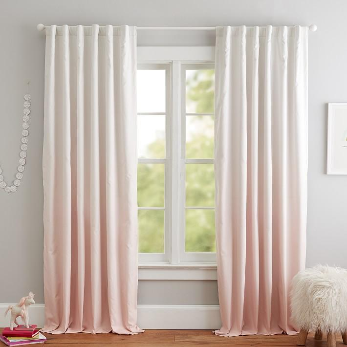 blush ombre blackout curtain panel