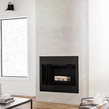 light gray concrete living room