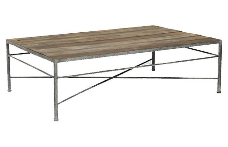 isabelle natural wood galvanized metal