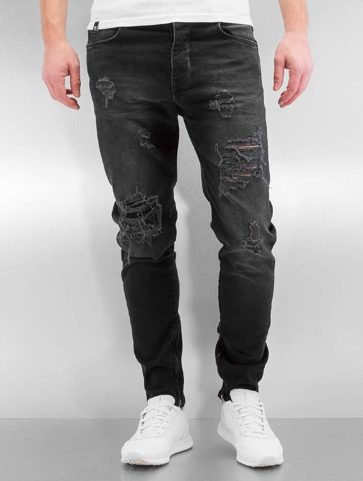 Bangastic Männer Slim Fit Jeans K125 in schwarz