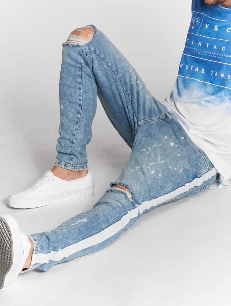 VSCT Clubwear Männer Slim Fit Jeans Knox Slim Track in blau