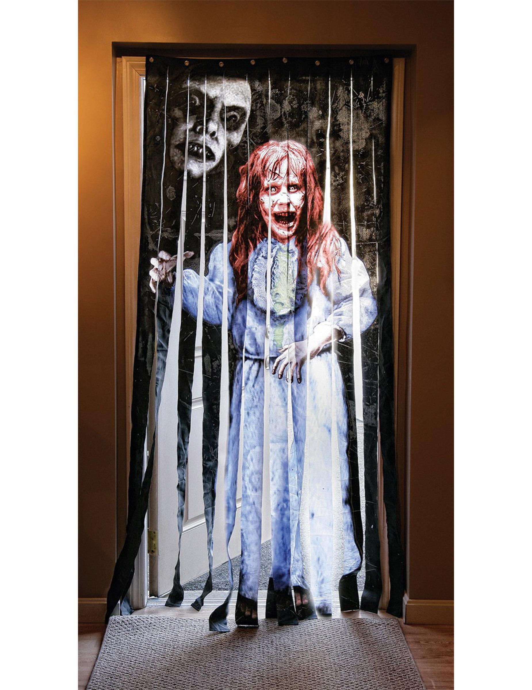 rideau de porte exorciste halloween