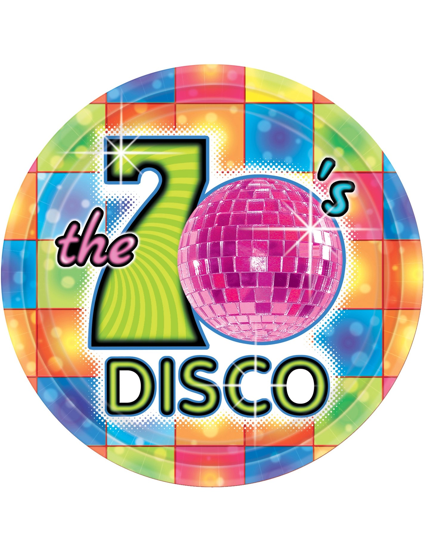 70s Disco Plates Decorations And Fancy Dress Costumes