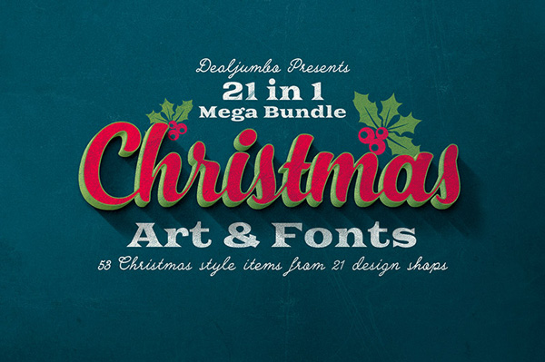 Mega Bundle From Dealjumbo Christmas Art Amp Fonts
