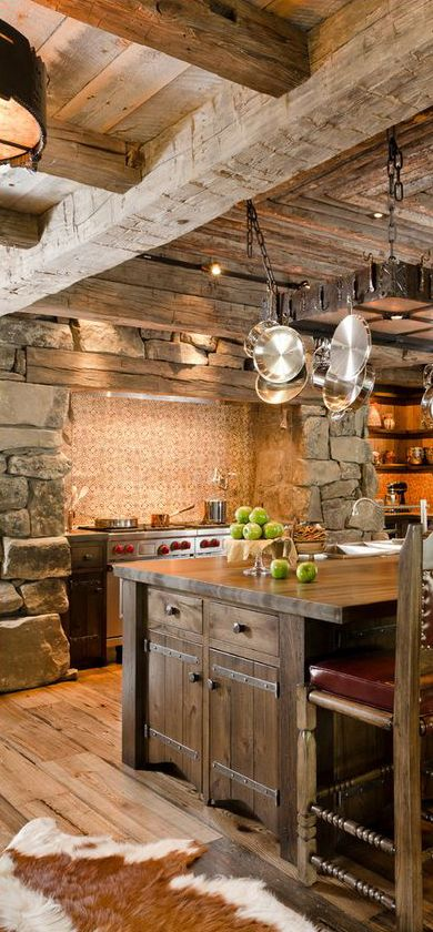 40 Rustic Kitchen Designs to Bring Country Life -DesignBump on Rustic:1Gdhjdx6F3G= Farmhouse Kitchen  id=79511