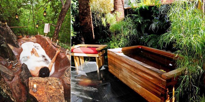 55+ Beautiful Outdoor Bathroom Ideas -DesignBump on Backyard Bathroom Ideas  id=88473