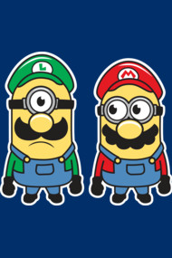 Super Minion Bros Shirts. Mashup madness mixing Mario and Minions