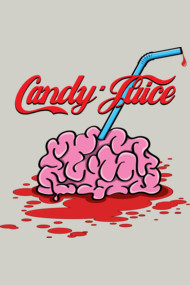 Candy Juice T Shirt. Take a seat and enjoy your fresh drink with a straw. Brain juice... what else?