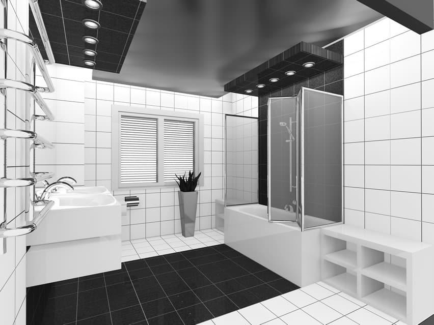 15 Black and White Bathroom Ideas (Design Pictures ... on Monochromatic Bathroom Ideas  id=59835