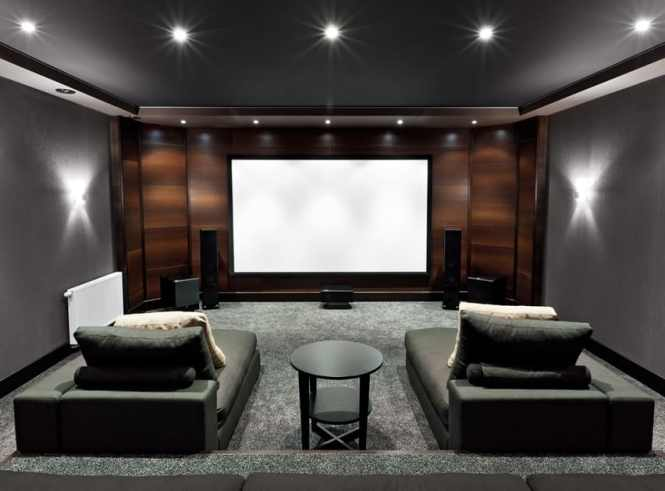 Movie Theater Home Contemporary Decorating Ideas With Room
