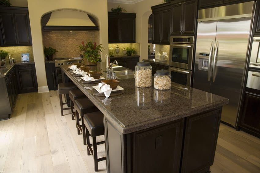 Kitchen Countertop Ideas? | ThriftyFun on Backsplash Ideas For Dark Cabinets And Light Countertops  id=20877