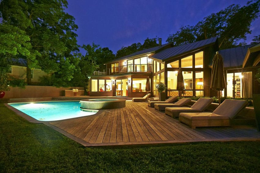 45 Backyard Deck Ideas (Beautiful Pictures of Designs ... on Pool Deck Patio Ideas  id=96498