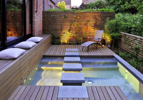 Mini Spa Design for Small Terraced Houses on Terraced House Backyard Ideas id=23637