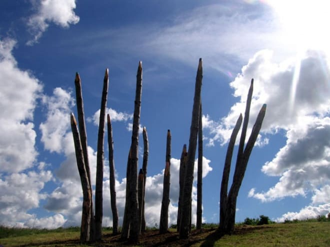 Giant Colour Pencil Sculptures   DesignRulz.com
