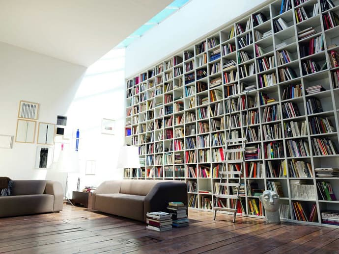 Image result for modern home library