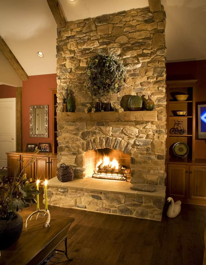 25 Stone Fireplace Ideas For A Cozy Nature Inspired Home