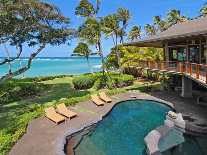 Magnificent Beachfront Residence Paia Hawaii