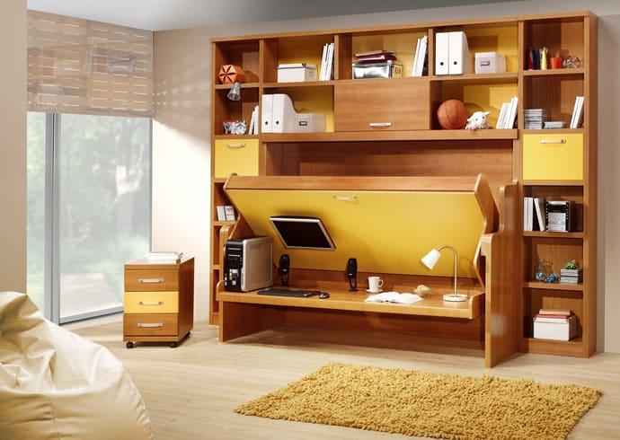 15 Cool Murphy Beds For Decorating Smaller Rooms