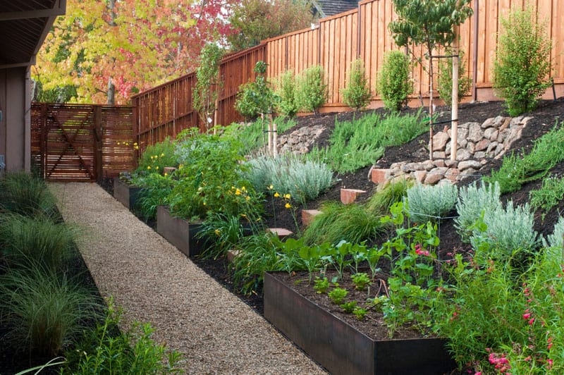How To Turn A Steep Backyard Into A Terraced Garden on Terraced House Backyard Ideas id=44705