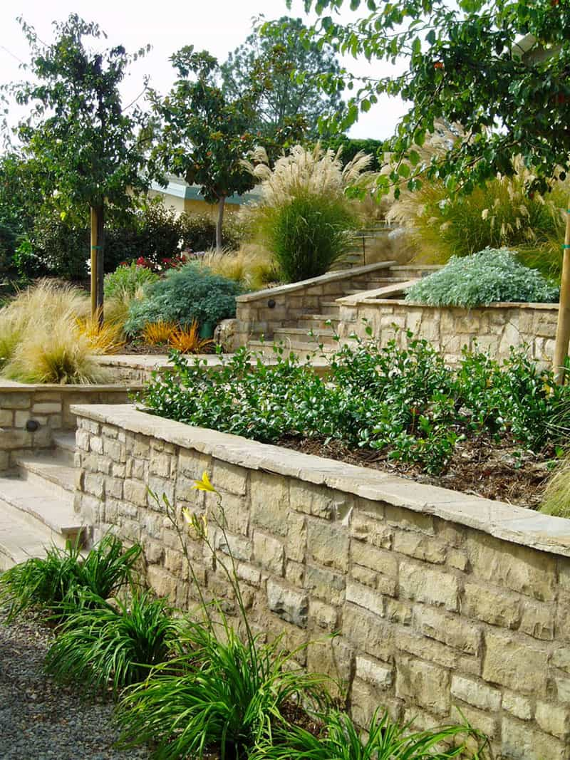 How To Turn A Steep Backyard Into A Terraced Garden on Terraced Yard Landscape Ideas id=16704