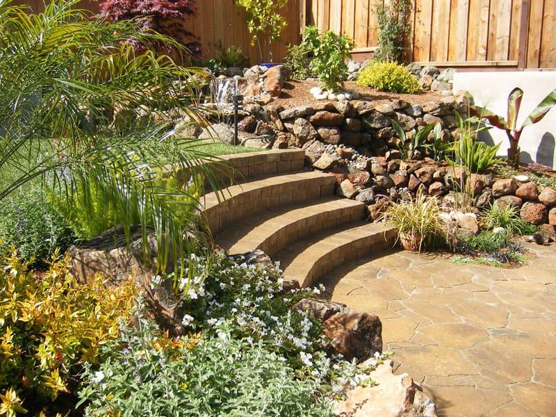 How To Turn A Steep Backyard Into A Terraced Garden on Terraced Yard Landscape Ideas id=34845