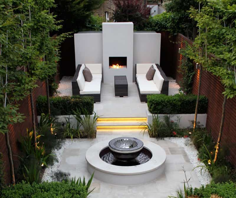 25 Modern Gardens with Water Features | DesignRulz on Modern Backyard Water Feature id=36412
