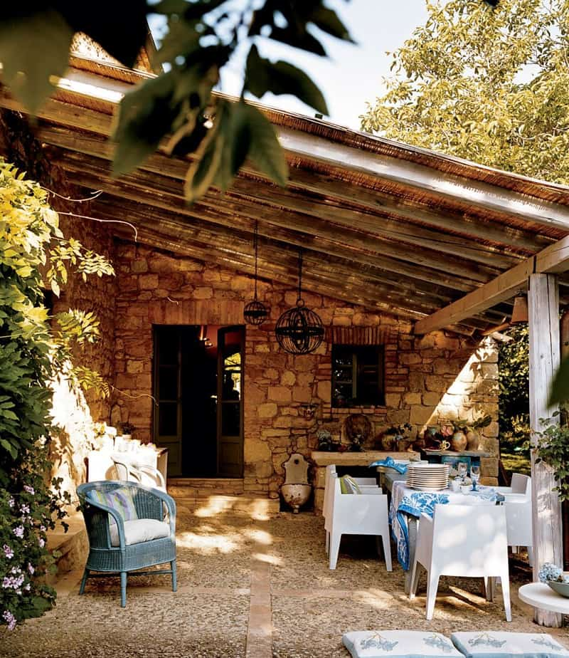 Under the Tuscan Sun: 30 Outdoor Dining in Tuscany on Living Spaces Outdoor Dining id=83005