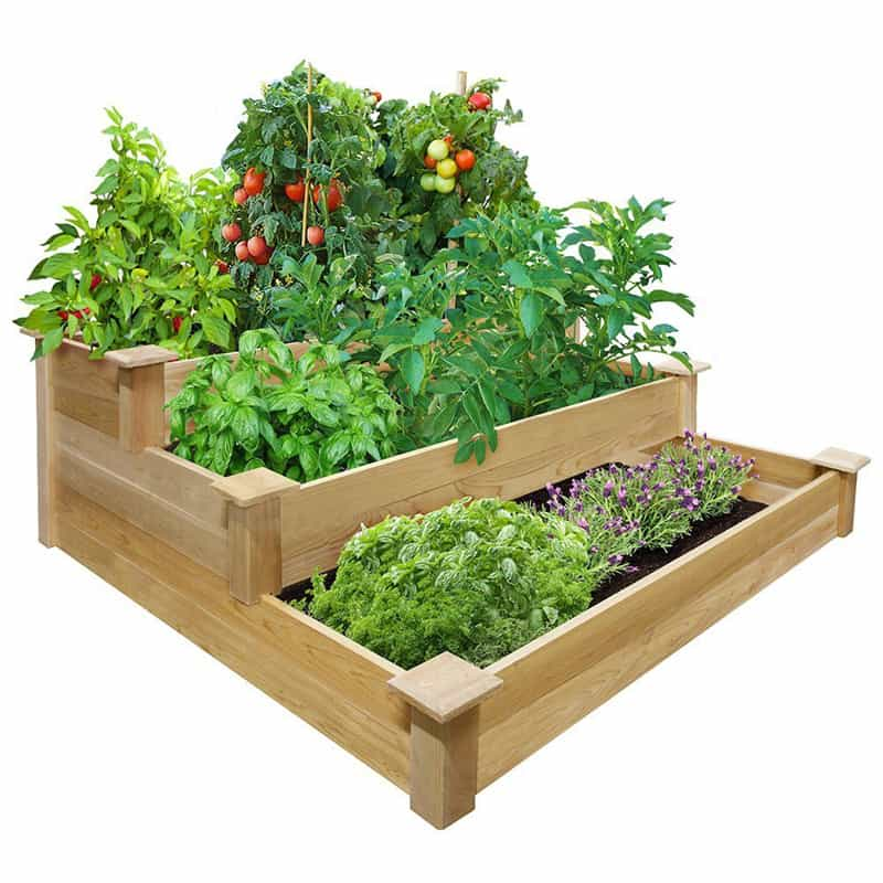 Raised Garden Beds: How to Build and Install Them on Backyard Patio Landscaping id=95629