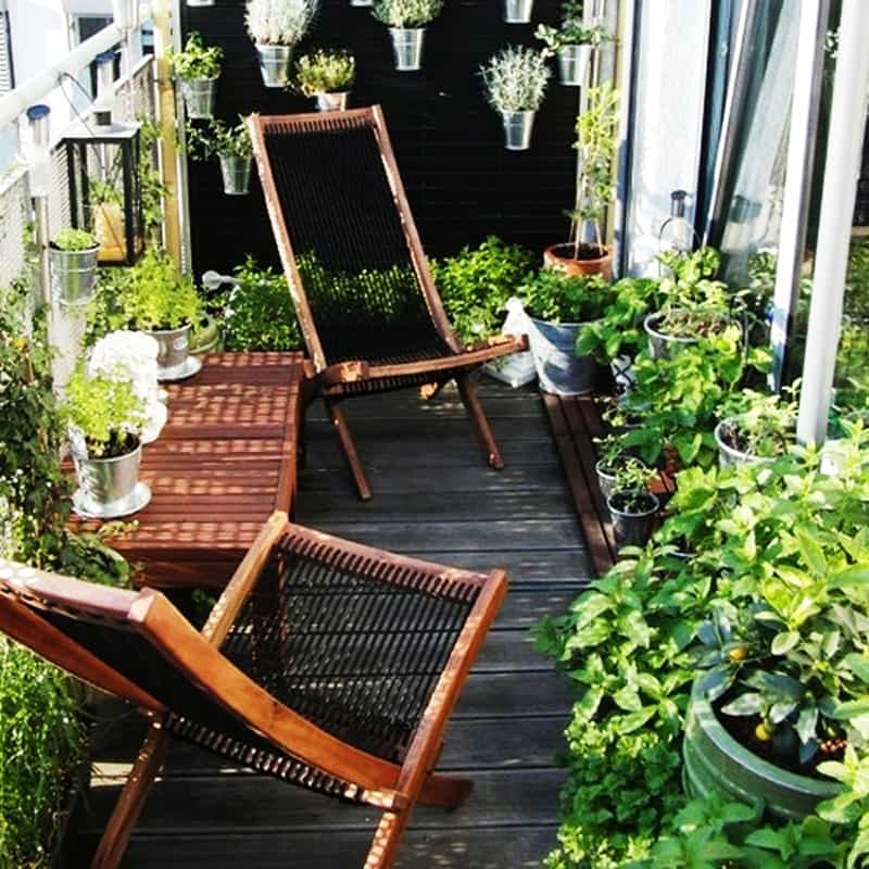 35 Balcony Designs and Beautiful Ideas for Decorating ... on Small Garden Sitting Area Ideas  id=20780
