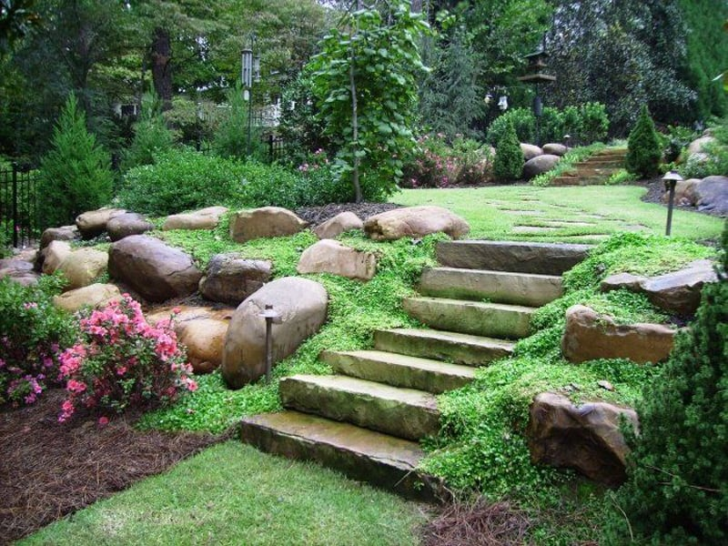 Amazing Ideas to Plan a Sloped Backyard That You Should ... on Backyard With Slope Ideas  id=62592