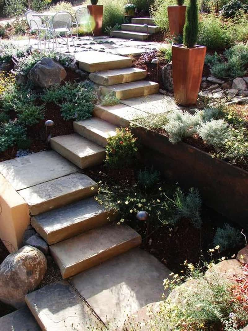 40 Ideas of How To Design Exterior Stairways on Backyard Patio Steps id=81921