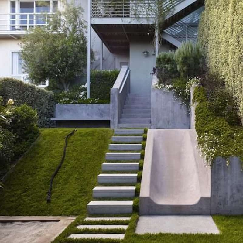 40 Ideas of How To Design Exterior Stairways on Backyard Patio Steps  id=97445