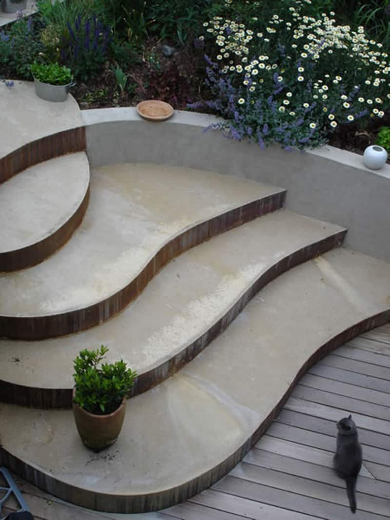 40 Ideas of How To Design Exterior Stairways on Backyard Patio Steps id=30915