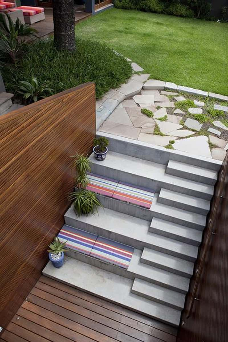 40 Ideas of How To Design Exterior Stairways on Backyard Stairs Design id=96709