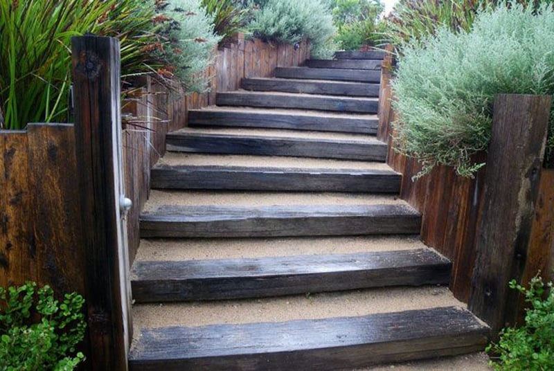 40 Ideas of How To Design Exterior Stairways on Backyard Patio Steps  id=25328