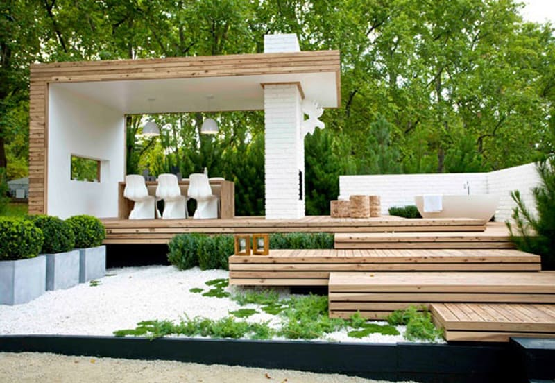40 Ideas of How To Design Exterior Stairways on Backyard Stairs Design id=70835