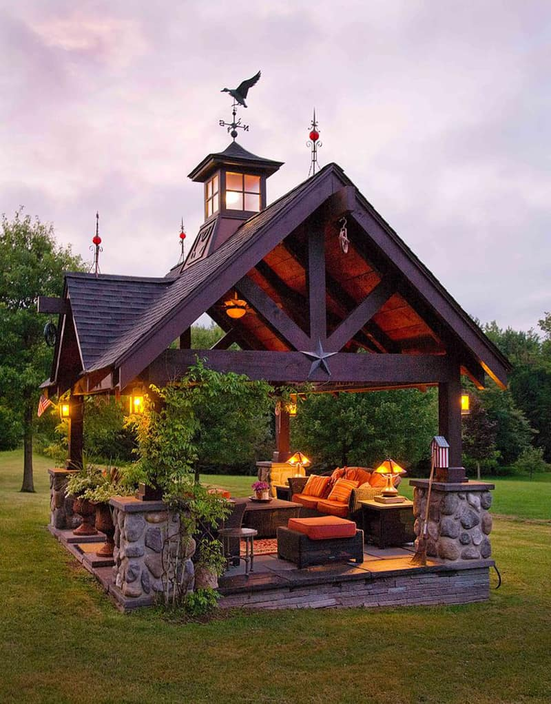 40 Modern Pergola Designs and Outdoor Kitchen Ideas on Covered Pergola Ideas  id=40479
