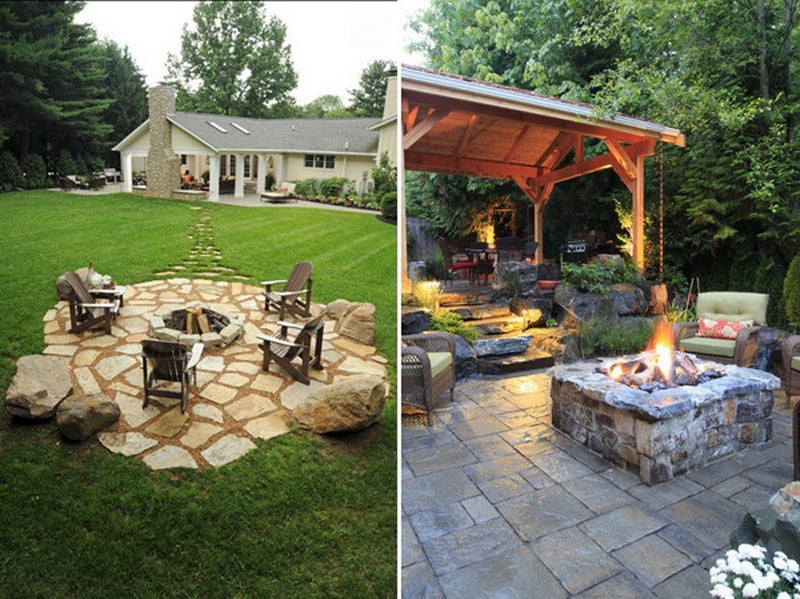 Best Outdoor Fire Pit Ideas to Have the Ultimate Backyard ... on Backyard Patio Designs With Fire Pit  id=36023